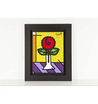 Cuadro-Flor-Roja-Brillante