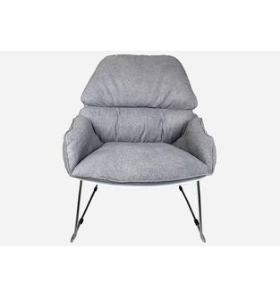 Silla-poltrona-Bay-pata-metalica-y-tela-blanco-con-gris-