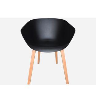 Silla-con-pata-de-madera-LIA-bastidor-negro-