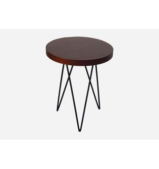 Mesa-auxiliar-Jade-redonda-Chapilla-roble-osc-y-metal-negro-