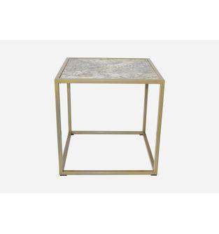Mesa-auxiliar-Minimal-Formica-Santo-Cinza-y-metal-dorado-