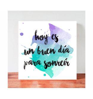 Cuadro-Decorativo-para-Pared-Frases-positivas-Be-Love--Hoy-es-un-buen-dia-para-sonreir-.
