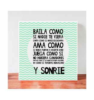 Cuadro-Decorativo-para-Pared-Frases-positivas-Be-Love--Baila-como-si-nadie-te-viera-.