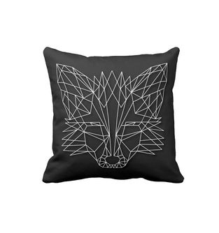 Cojin-Decorativo-para-el-hogar-en-Polyester-Lovely-Home--Fox-on-Black-.