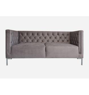 Sofa-2-puestos-Lino-tela-gris-plomo