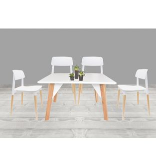 Juego-de-mesa-comedor-Lira---4-sillas-Fresia-Blanco