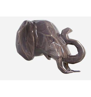 Escultura-Elefante-Facetado-Gris