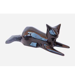 Escultura-Gato-Facetado-Negro