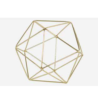 Escultura-Icosaedro-Oro
