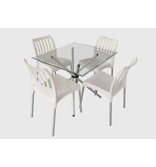 Mesa-xiam-cromada---sillas-piana-blancas