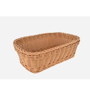 Canasta-Plastica-Rectangular-28-Cm--Cafe