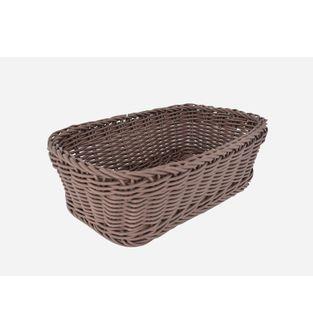 Canasta-Plastica-Rectangular-28-Cm--Cafe-Oscuro