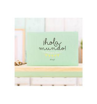 Album-para-bebe---¡Hola-mundo--Mi-primer-añito