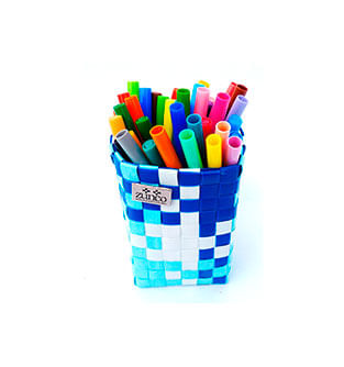 Organizador-Mini---Portalapices-Azules-y-Blanco