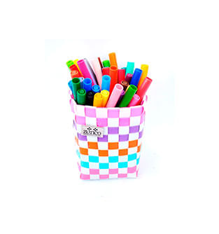 Organizador-Mini---Portalapices-Multicolor-Base-Blanca