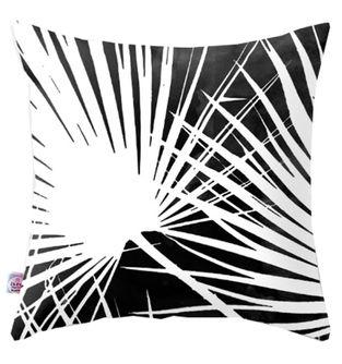 Cojin-Decorativo-Palmera-Blanco-y-Negro
