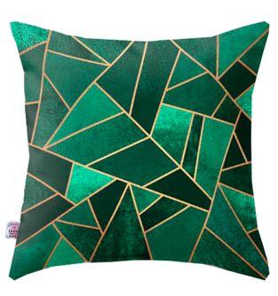 Cojin-Decorativo-Triangullos-Verde-y-Dorado