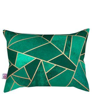 Cojin-Decorativo-Triangullos-Verde-y-Dorado-Rectangular-
