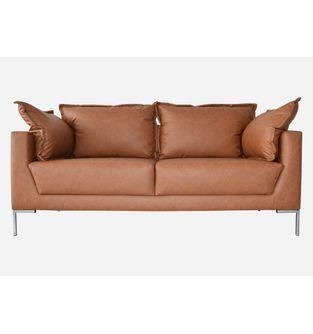 Sofa-2-puestos-Deco-cuero-sintetico-marfil