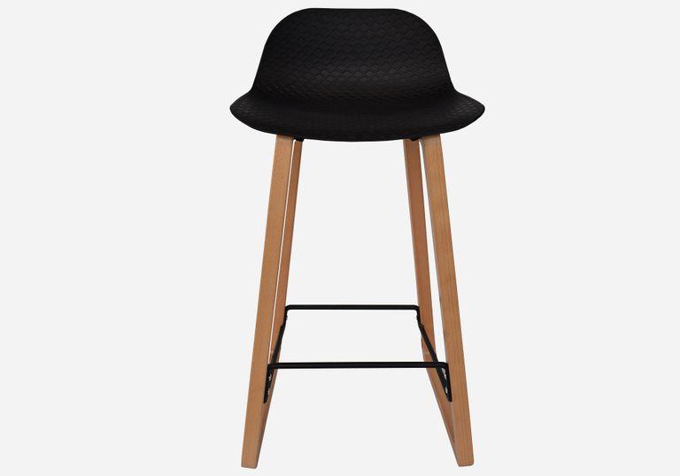 Butaco con pata en madera NET bastidor negro - elmobiliario