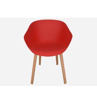 Silla-con-pata-de-madera-LIA-bastidor-rojo--
