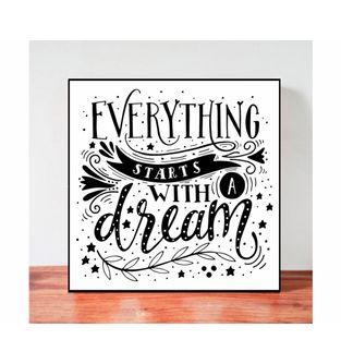 Cuadro-Decorativo-para-Pared-Frases-positivas-Be-Love--Todo-comienza-con-un-sueño-.