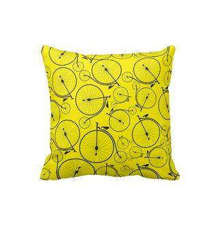 Cojin-Decorativo-para-el-hogar-en-Polyester-Lovely-Home--Yellow-Bikes-.