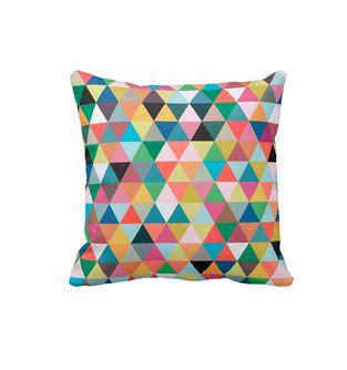 Cojin-Decorativo-para-el-hogar-en-Polyester-Lovely-Home--Triangulos-de-colores-.