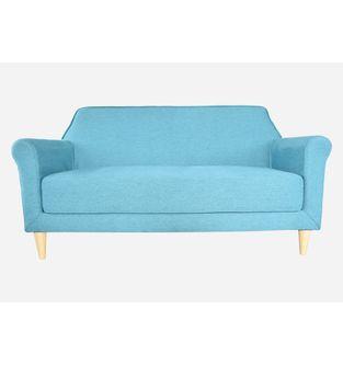 Sofa-2-puestos-Vintage-tela-turquesa