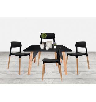 Juego-de-mesa-comedor-Lira---4-sillas-Fresia-Negro