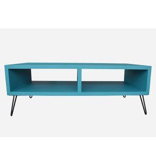 Mueble-de-television-Jade-poliuretano-turquesa-y-metal-negro