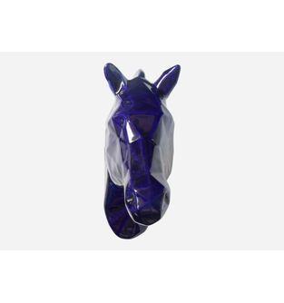 Escultura-Cabeza-Caballo-Facetado-AzulCobalto
