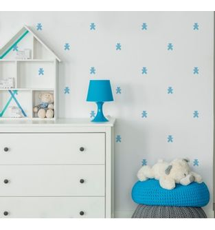 Vinilo-Little-teddies-azul-claro