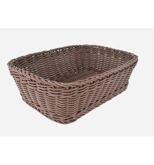 Canasta-Plastica-Rectangular-33-Cm--Cafe-Oscuro