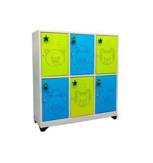 Locker-6-puestos-Infantil-Verde-Azul