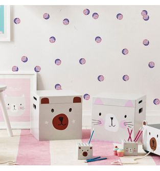 Mini-Vinilo-Adhesivo-Pink-Purple-watercolor-Dots-impreso