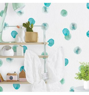 Mini-Vinilo-Adhesivo-Teal-Watercolor-Dots-impreso