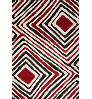 Tapete-Sevilla-Fondo-Blanco-Geometrico-Rombos-Rojos---230X160